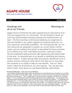 Agape House Newsletter