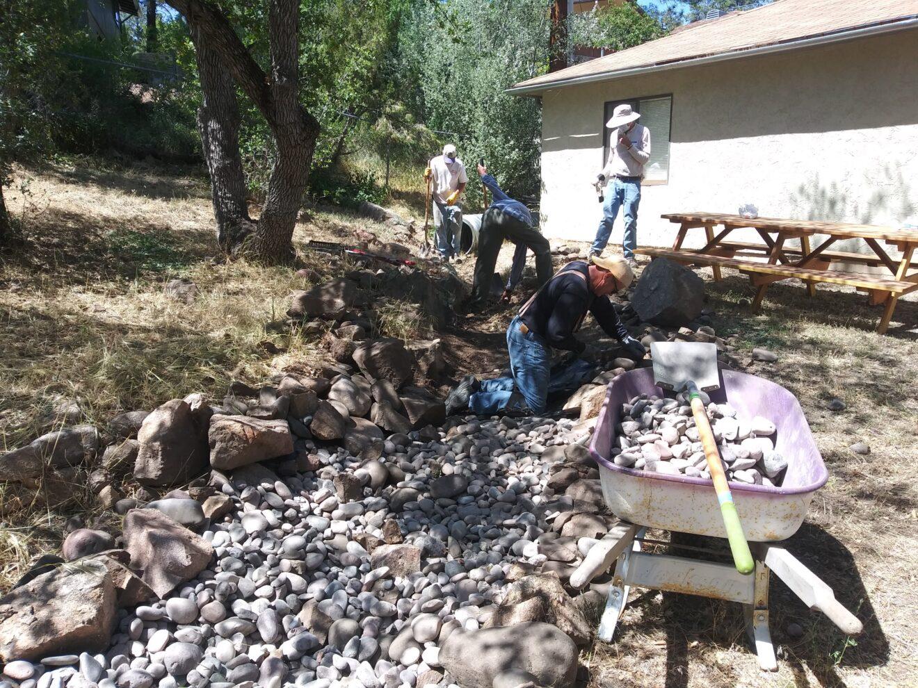 Volunteers Clean Up Agape House Apartments