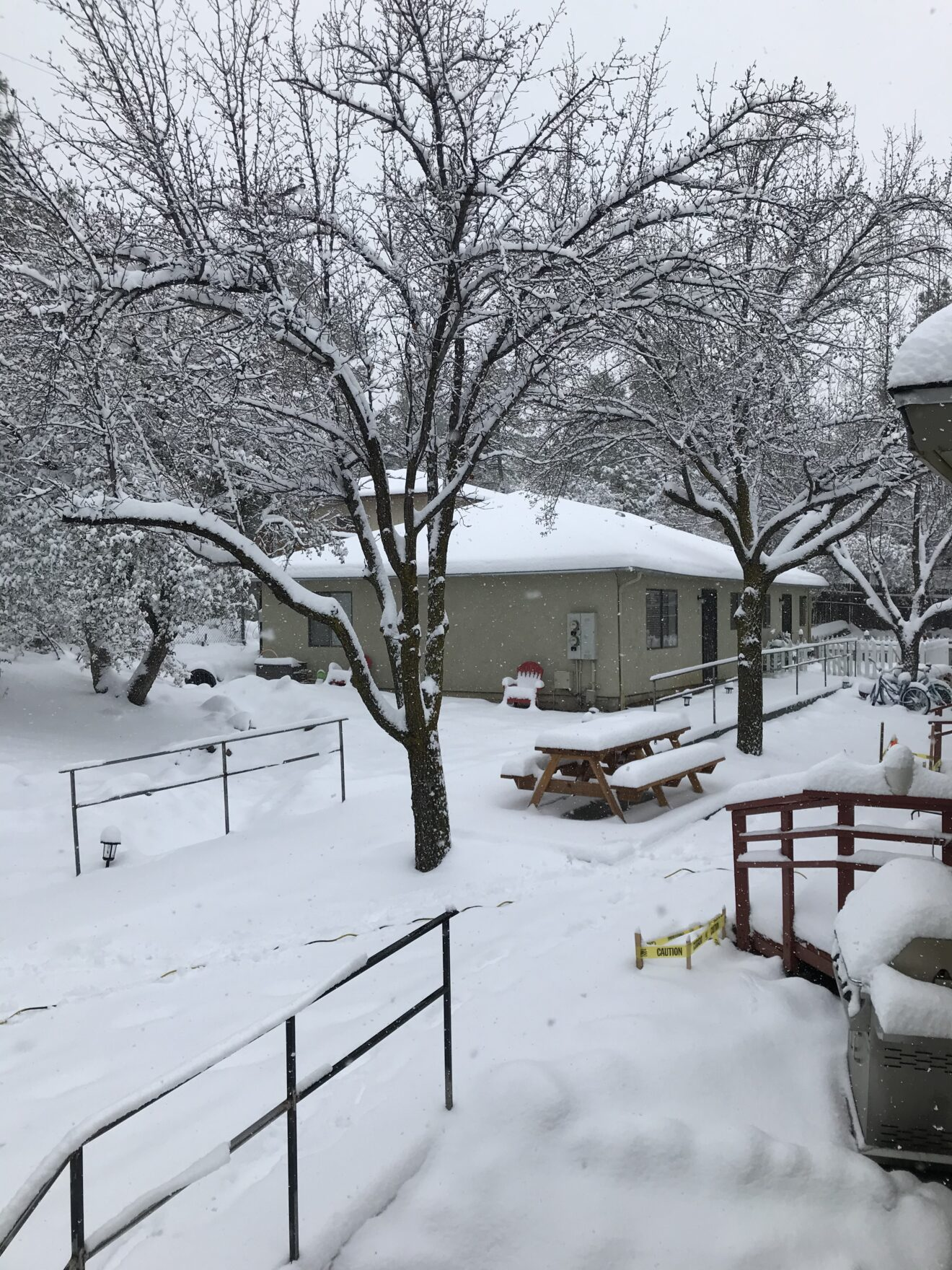 Warm Home For Agape Families on a Snowy Day