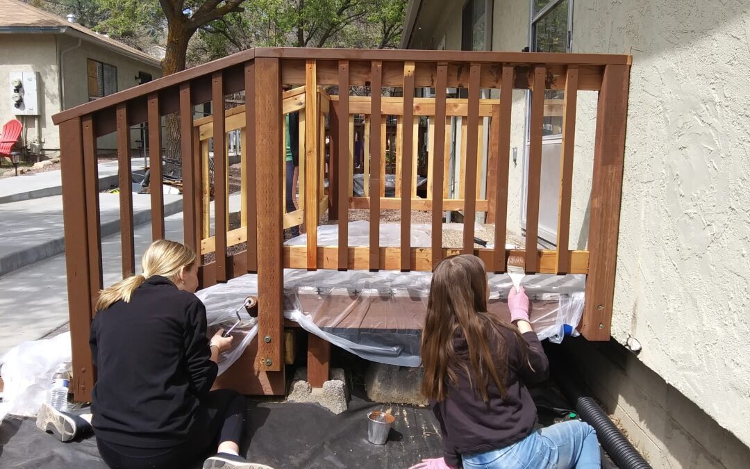 Volunteers do Spring Cleaning- Day of Service