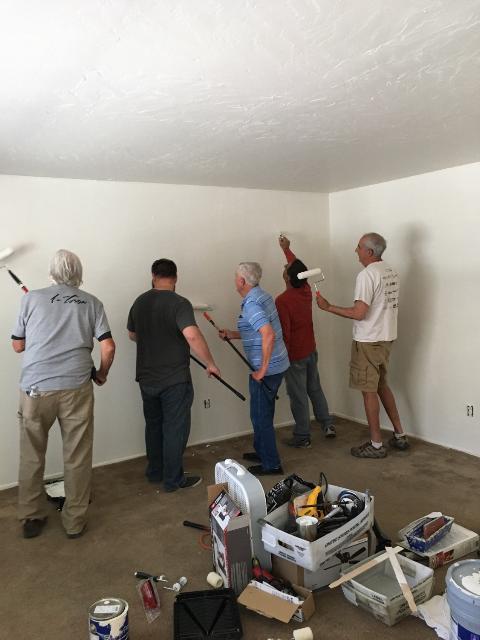 Agape House volunteers help homeless